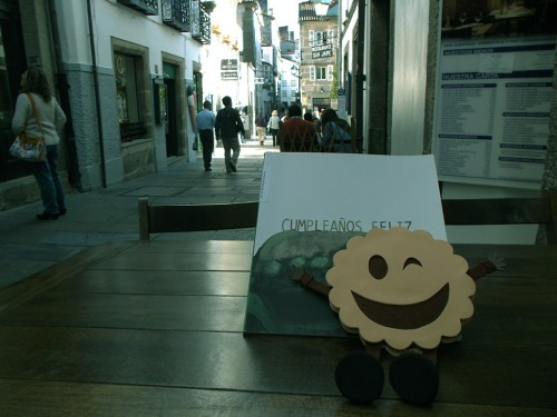 Book Crossing en Santiago de Compostela con las galletas molonas