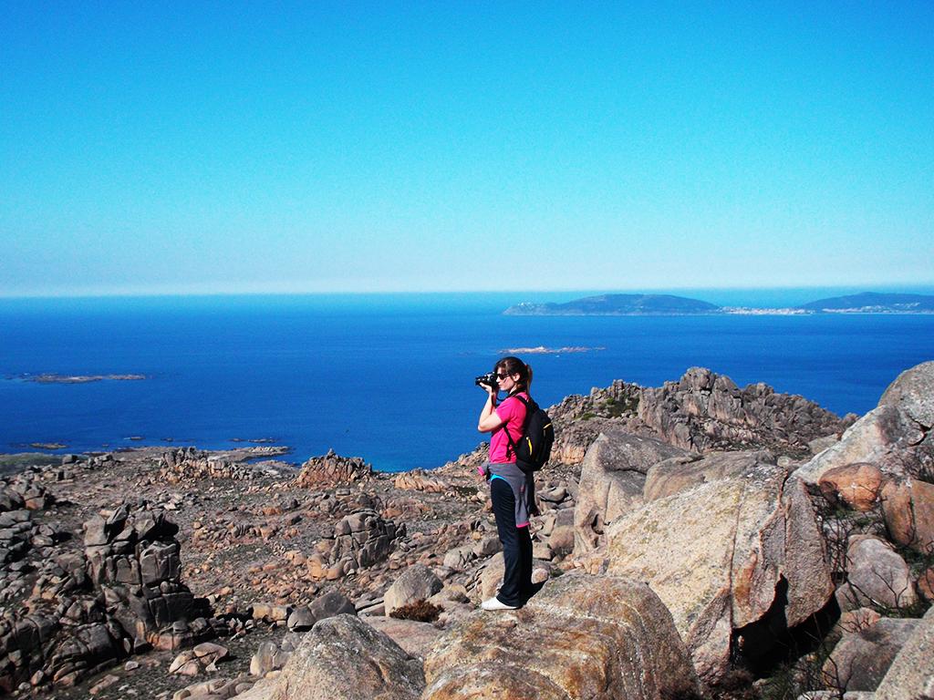 Tania en el Monte Pindo.