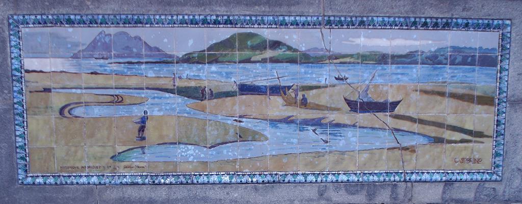 Azulejos de la Alameda de Pontevedra.