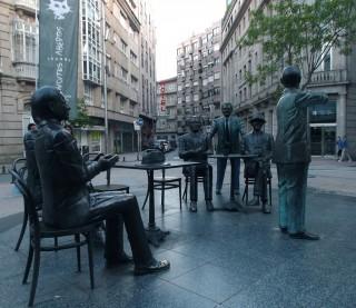 Plaza de San José en Pontevedra.