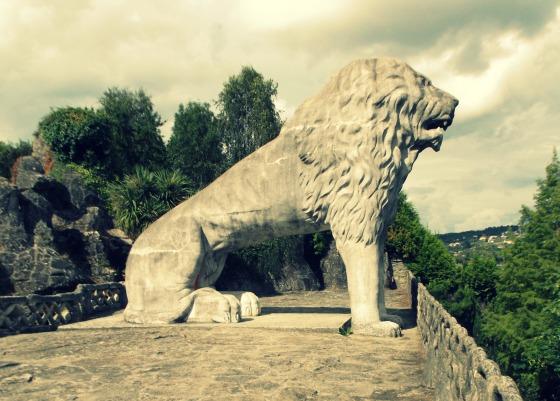 León del Parque do Pasatempo de Betanzos