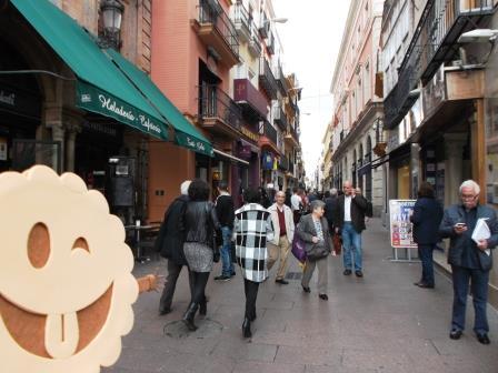 La mítica calle Sierpes de Sevilla