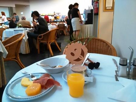 Desayuno en el Hotel Bécquer