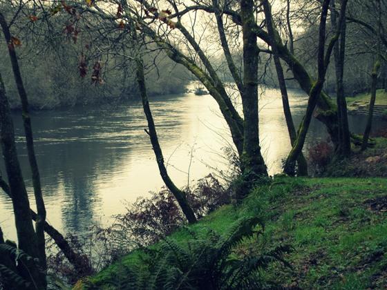 Vistas del río Ulla desde el Areal de Berres (A Estrada)