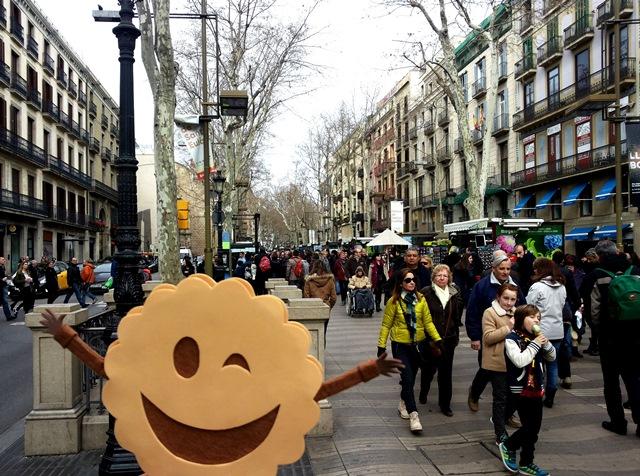 En las Ramblas de Barcelona