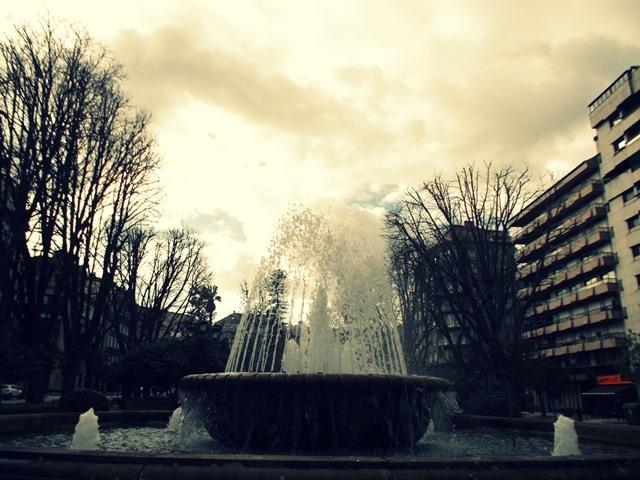Fuente central de la Alameda de Vigo