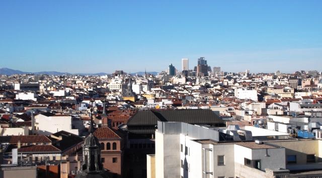 Preciosas vistas desde el Círculo de Bellas Artes, Madrid
