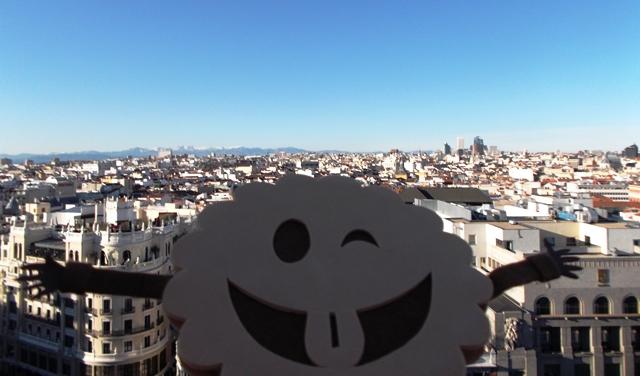 Vistas molonas desde el Círculo de Bellas Artes, Madrid.