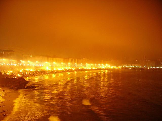 Una noche de San Juan en A Coruña