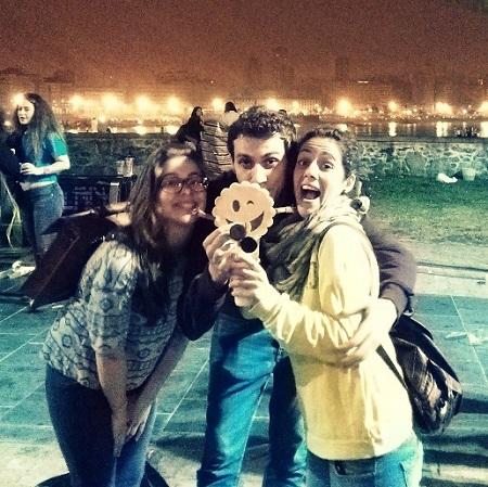 Noche de fiesta en el San Juan de A Coruña