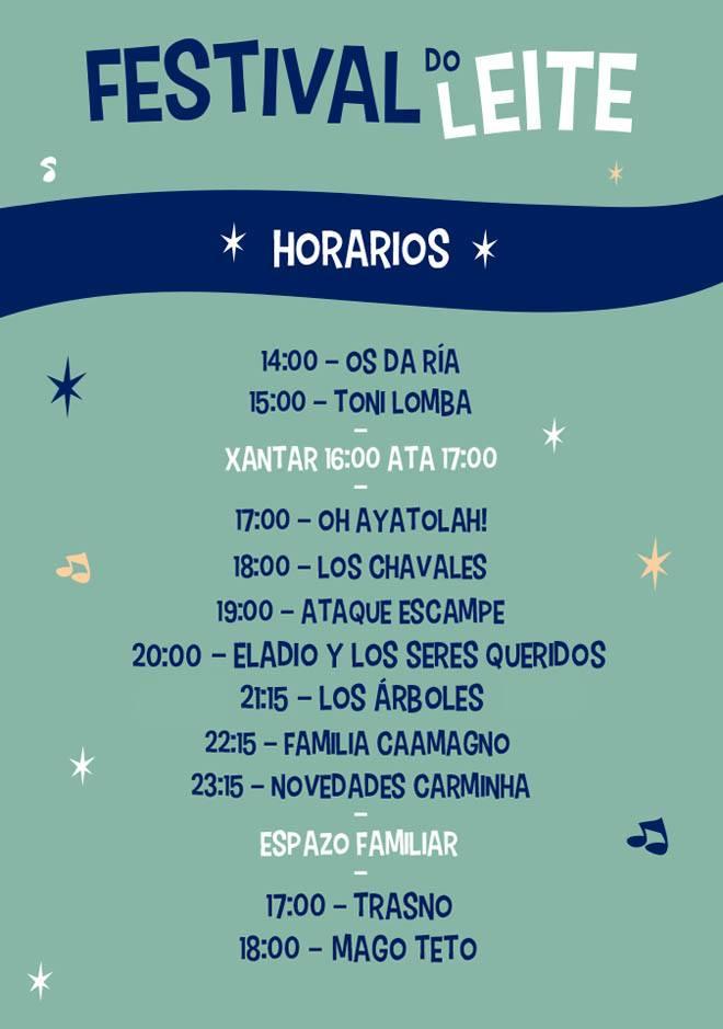Horarios del Festival do Leite 2016