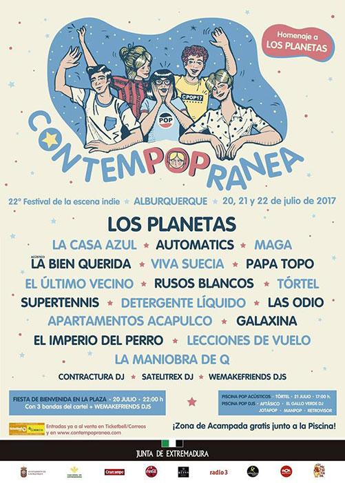 Cartel del festival Contempopránea 2017