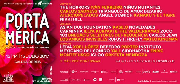 Cartel del Festival Portamérica 2017