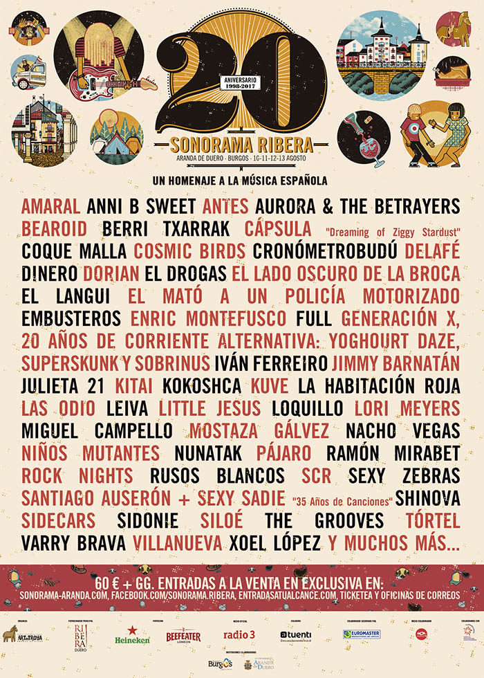 Cartel del festival Sonorama Ribera 2017