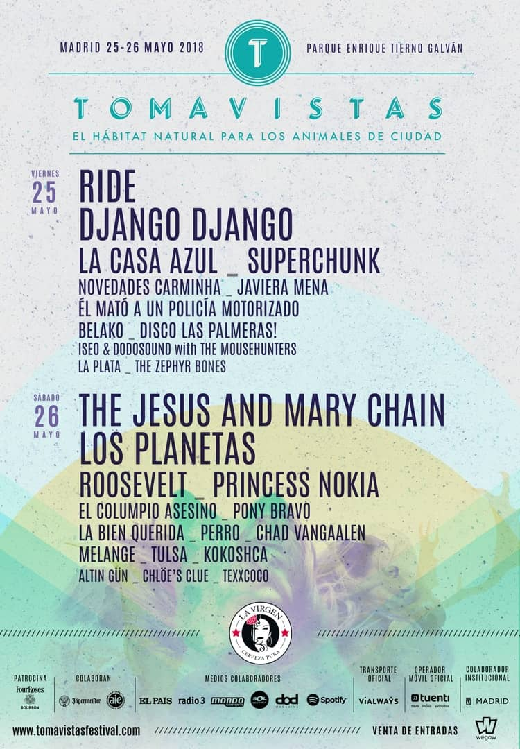 El cartel del festival Tomavistas 2018
